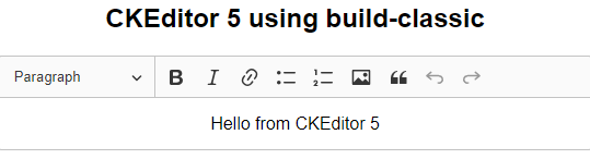 Using CKEditor 5 with React via create-react-app | Matt Button