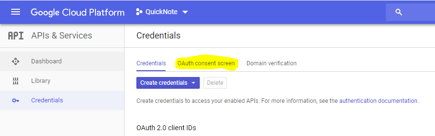 OAuth Consent Setup